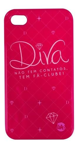 capa para iphone 4/4s diva espelho - pink