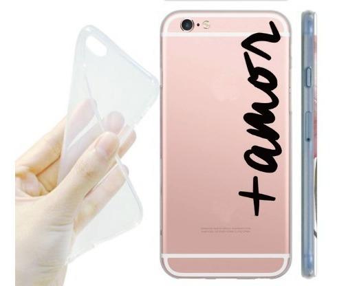 capa para iphone 6 transparente com a palavra +amor