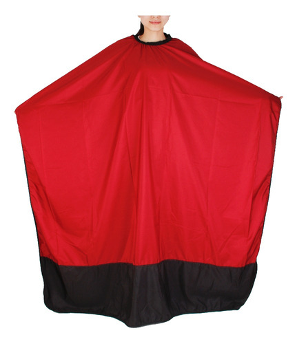 capa para peluquería salón de paño de negro rojo belleza