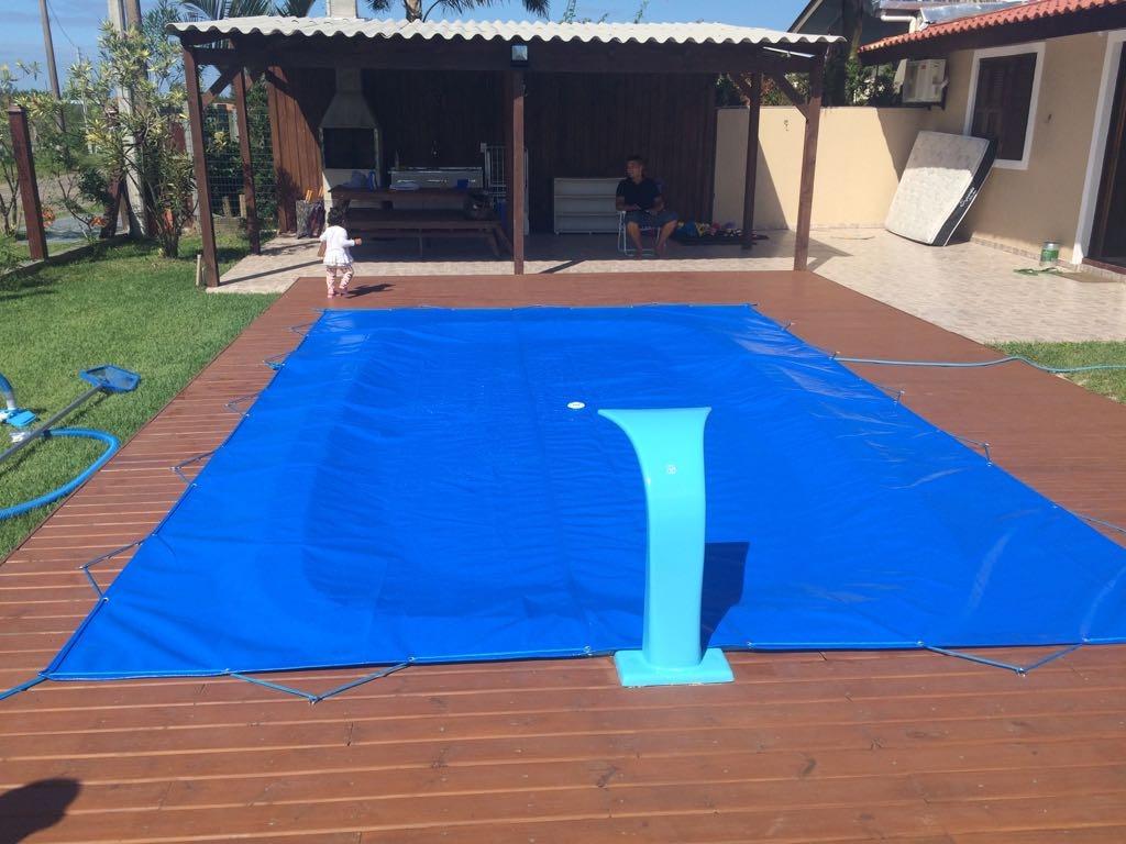 Capa para piscina 5x3 5 lona forte de prote o r 315 00 em mercado livre - Parches para piscinas de lona ...