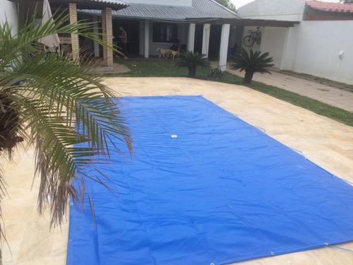 capa para piscina 6,1x3,1  lona proteção