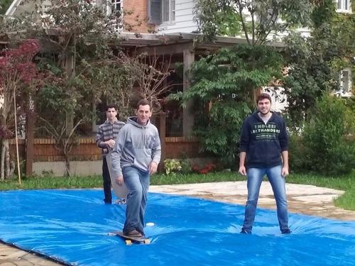 capa para piscina 7,5x4,5  - lona forte 300 micras