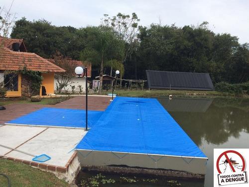 capa para piscina 8,5x4,5 lona forte proteção sob medida
