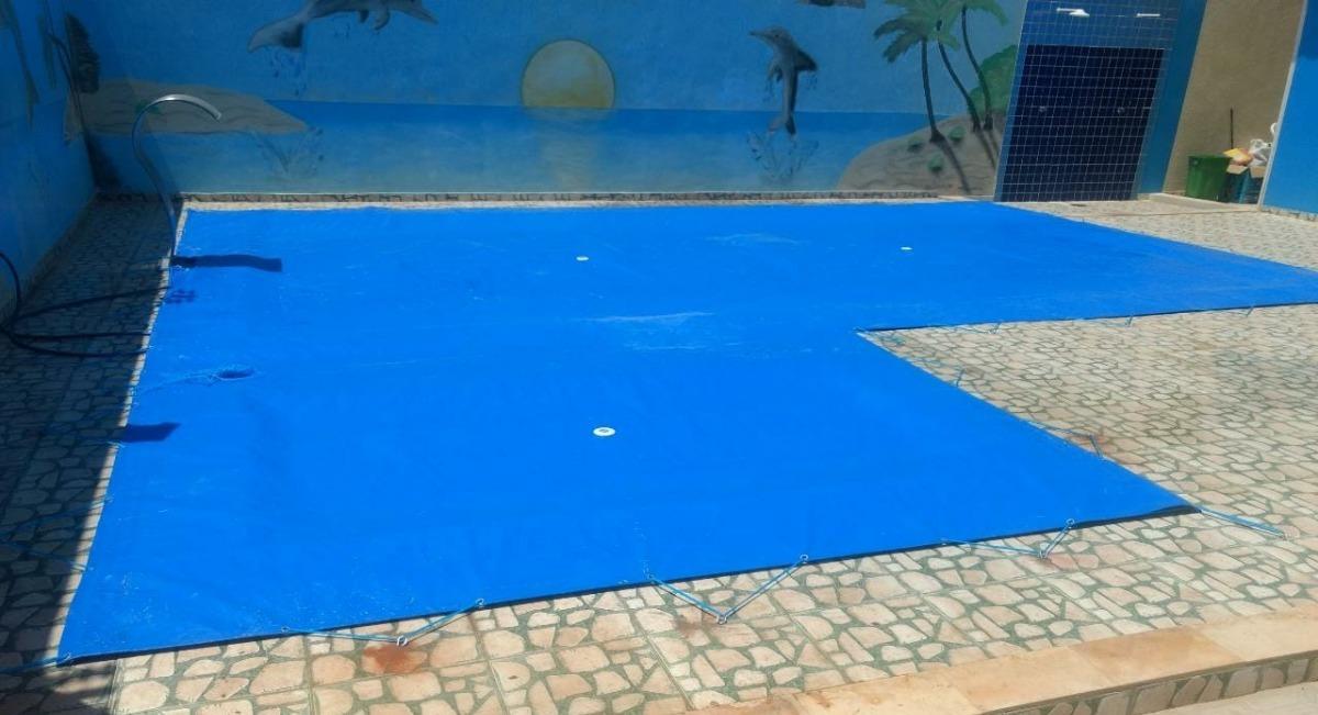 Capa para piscina 9 5x4 3 lona forte sob medida r 684 00 em mercado livre - Lonas para piscinas a medida ...