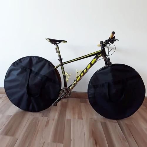 capa para roda bike - mala roda bicicleta