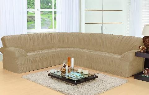 capa para sofá de canto de 5,6 até 7 lugares várias cores
