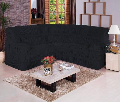 capa para sofa de canto malha gel  elasticada varias cores
