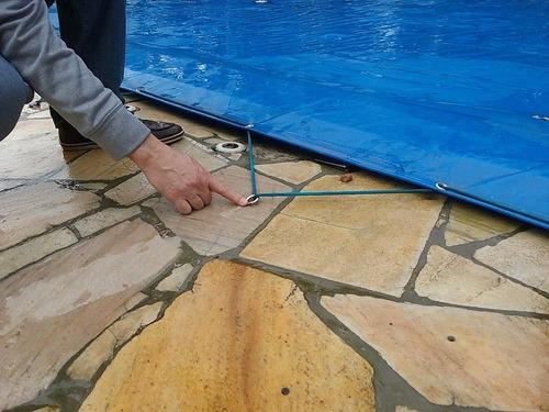 capa para spa/ofurô 3,5x2,5 lona forte para piscina