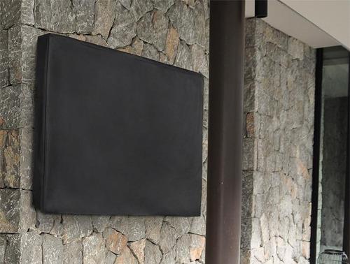 capa para tv led lcd plasma corino impermeável costura nylon