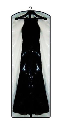capa para vestido de festa 100% transparente - com lateral