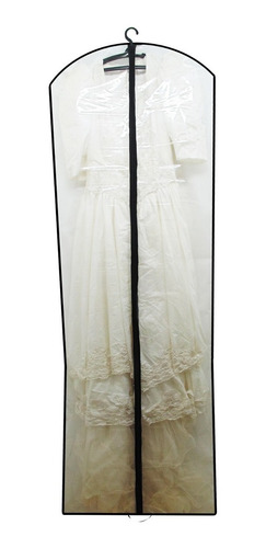 capa para vestido de noiva com zíper 100% pvc (transparente)