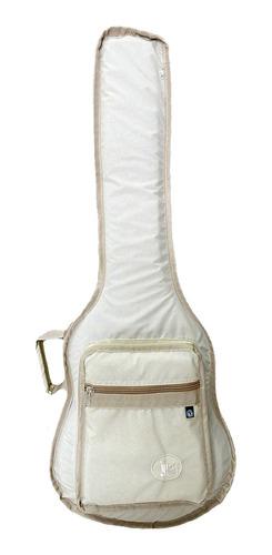 capa para violão baby luxo bege