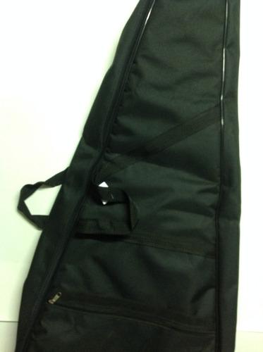 capa para violão clássico luxo acolchoada+ kit palhetas
