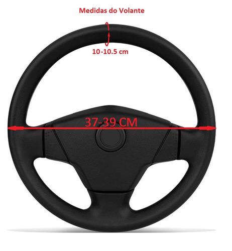 capa para volante couro ecológico gravado  frete grátis br