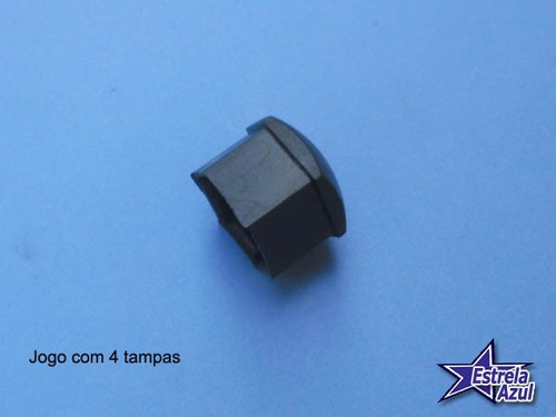 capa parafuso roda gol bx - quadrado - santana - original vw