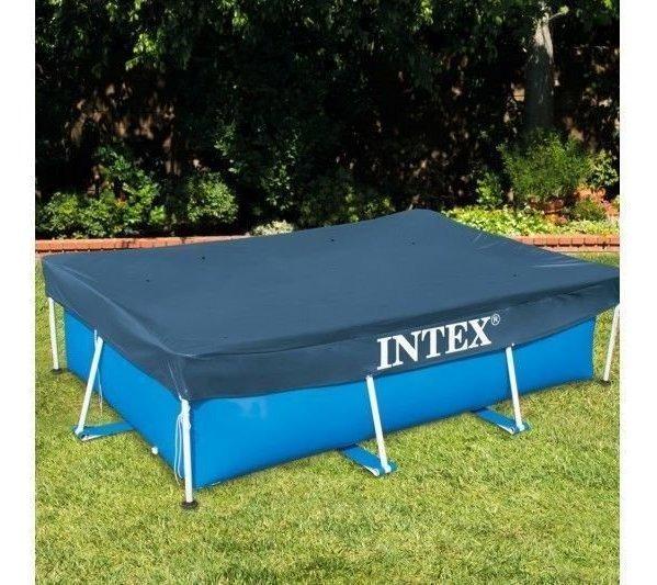 Manta rectangular para piscina 300 x 200 cm Intex 28038