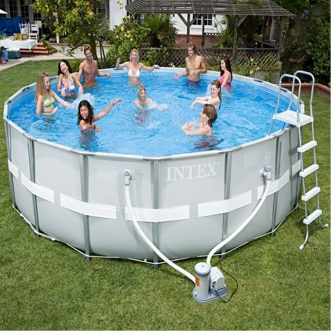 Capa piscina intex estrutural 4 88 cm 488 m 19154 l 19156 for Piscinas rectangulares intex