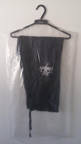 capa plástica para calça - 47x90 cm - 100 peças