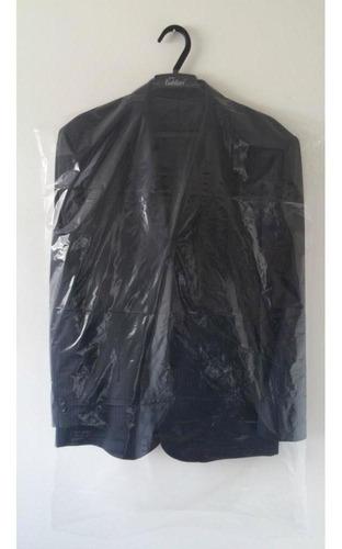 capa plástica para terno (transparente) - 100 peças