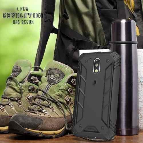 capa poetic revoluton heavy duty moto g4 play black original