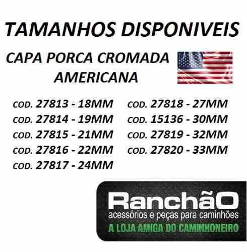 capa porca americana caminhão 18/19/21/22/24/27/30/32/33