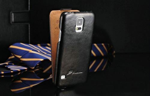 capa premium case carteira galaxy s5 de couro
