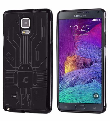 capa premium circuito android sams galaxy note 4 - ft grátis
