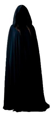 capa preta de cetim com capuz nova exu pomba gira umbanda r 55 00
