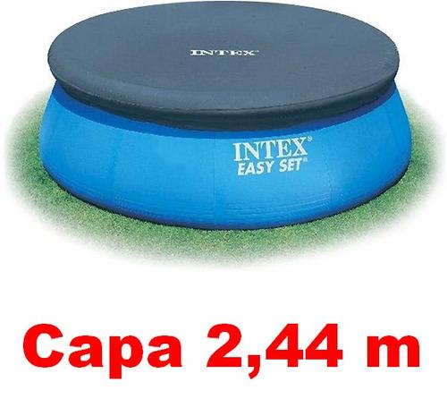 capa proteção intex piscina inflável 2,44 m 2419 l #28020