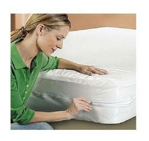 capa protetor  colchão  imper ziper solteirao  c 6+ 2 casal