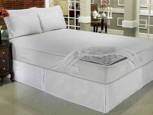 capa protetor  colchão impermeavel   pvc casal box