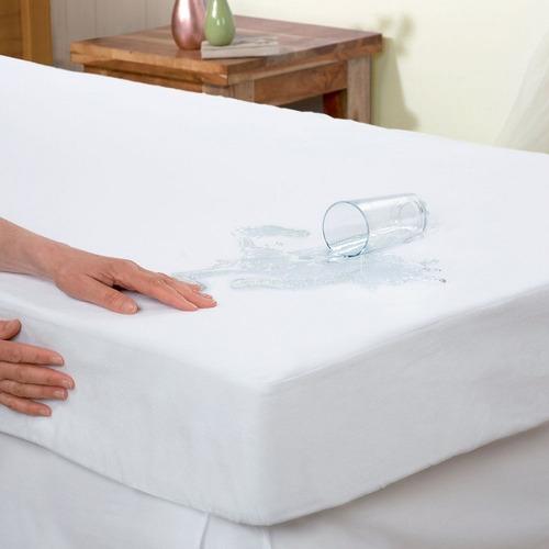 capa protetor  colchão  impermeavel  ziper solteiro kit c 2
