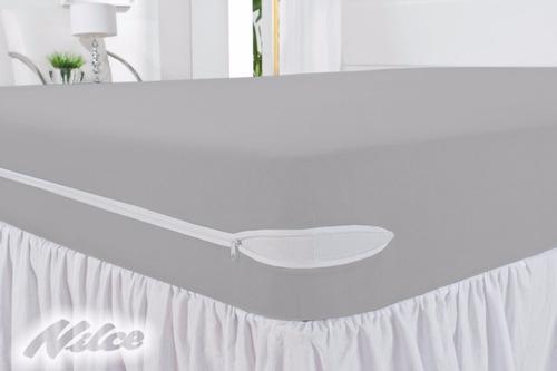 capa protetor  colchão  poliester ziper 12 pcs