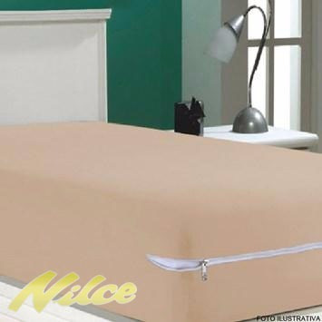 capa protetor  colchão  poliester ziper 19 pcs