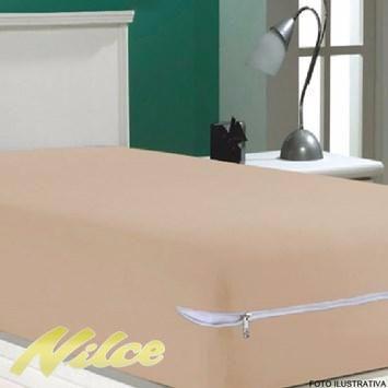 capa protetor  colchão   poliester  ziper kit c 10