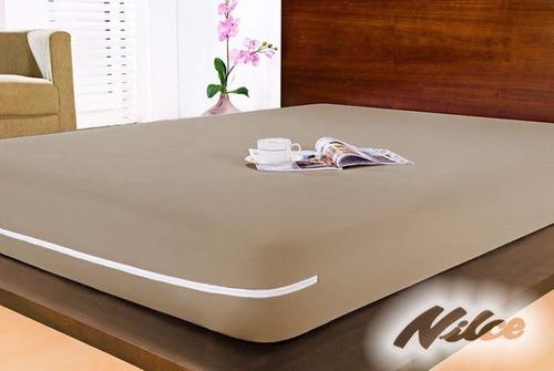 capa protetor  colchão solt  polies ziper kit c 8 lilás