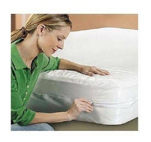 capa protetor  colchão   ziper solteiro kit c 2+ 1 casal zip