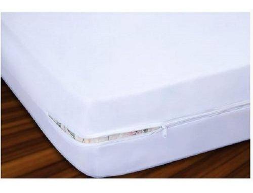capa protetor de colchão  impermeável  casal c zíper+4 trav