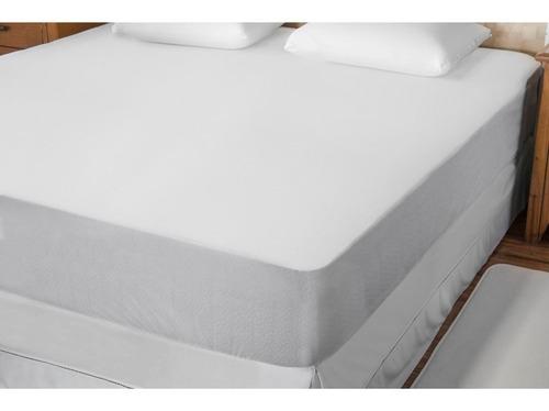 capa protetor de colchão  impermeável  casal c zíper
