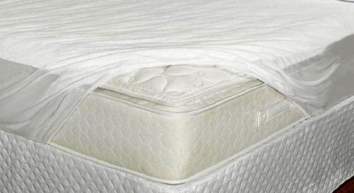 capa protetor de  colchão impermeável pvc casal  elastico