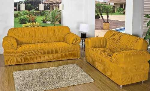 capa protetor de sofá 2 e 3 lugares malha gel 28 elásticos