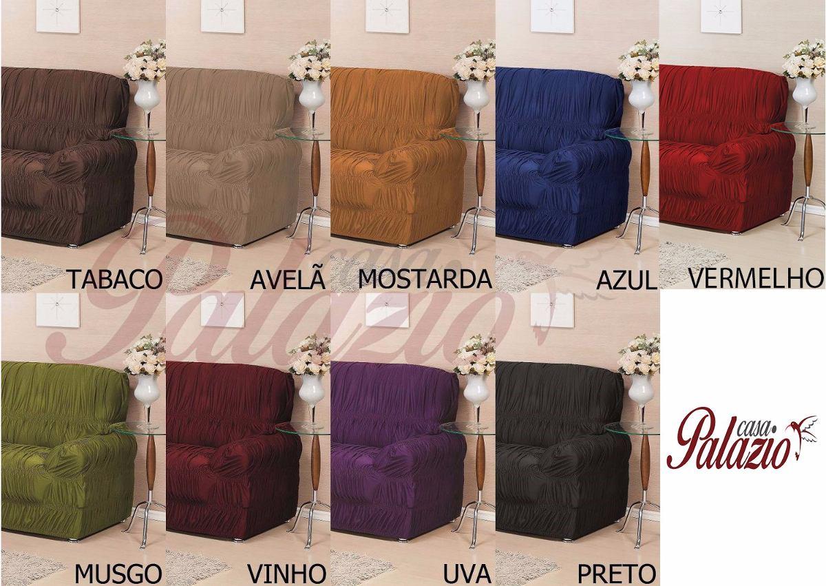 capa protetor de sof canto king elasticada varias cores r 219 56 em mercado livre. Black Bedroom Furniture Sets. Home Design Ideas