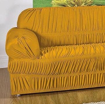 capa protetor de sofá malha gel 28 elásticos 2 e 3 lugares