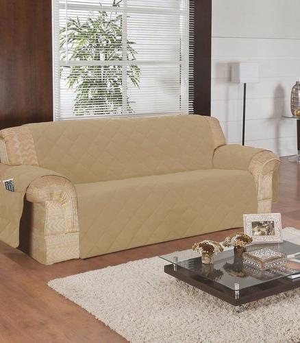 capa protetor de sofa microfibra matelado avulsa  3 lugares