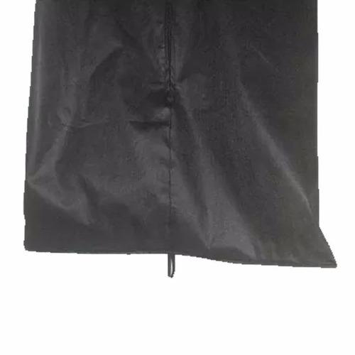 capa protetor de vestido de festas de tnt c/ zíper e visor