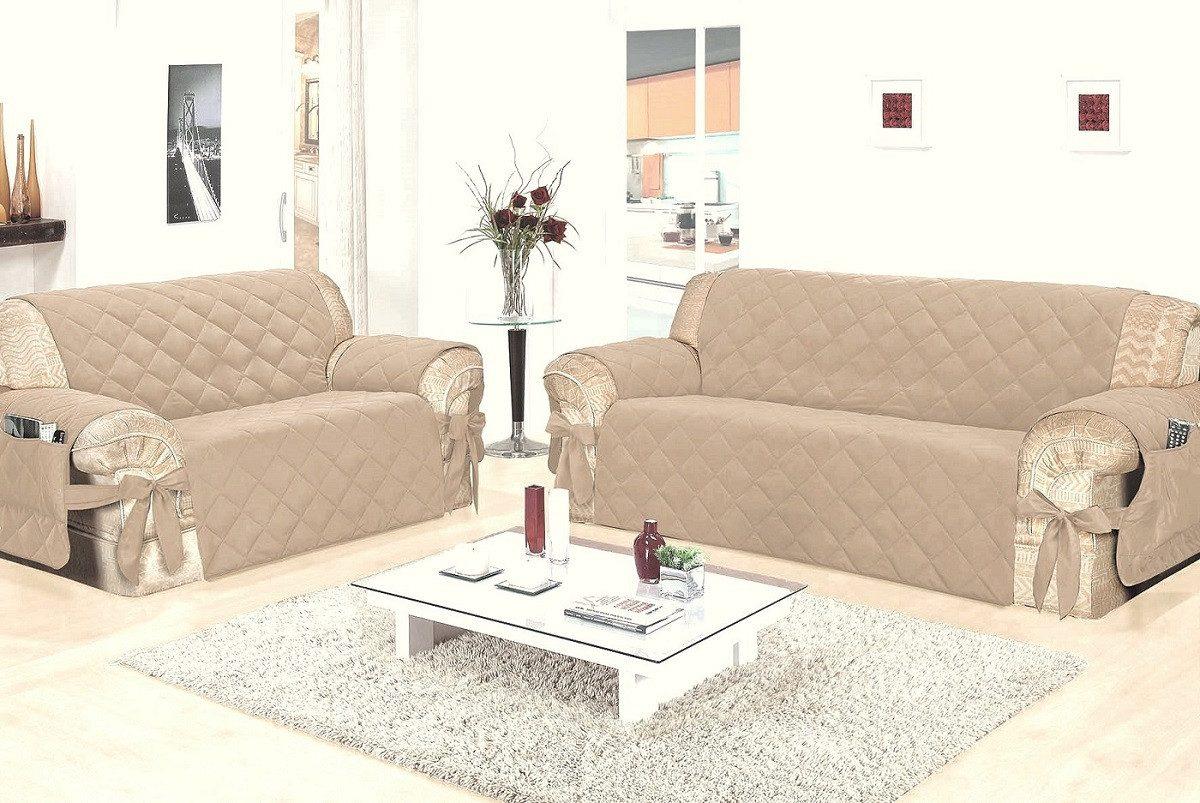 Capa protetor sof p sala 3 e 2 lugares r 67 51 em - Medidas de sofas 3 2 ...