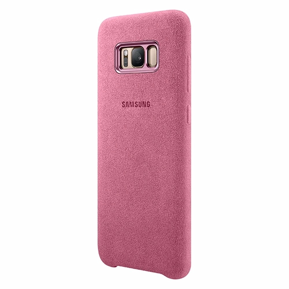 Capa Protetora Alcantara Galaxy S8 E S8+ Rosa Pelic Gel ...