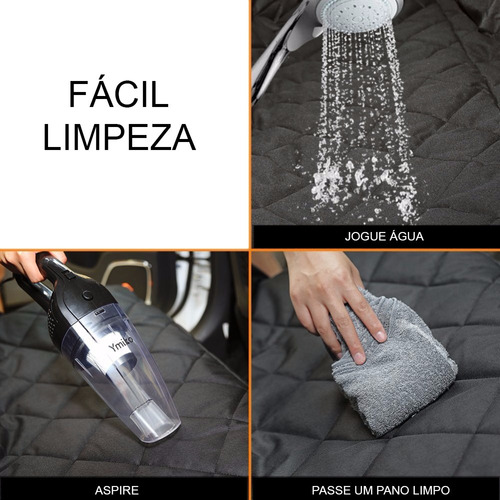 capa protetora banco carro luxo cao gato pet meepets + guia