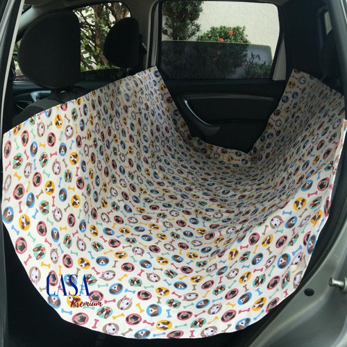 capa protetora banco carro pet gato cachorro com furo cinto