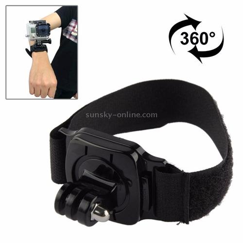 capa protetora case gopro pulseira braço hero rotação 360º